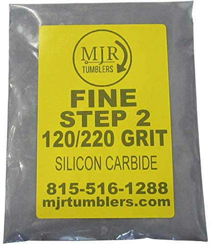 MJR Tumblers 5 LB Fine 120 220 Silicon Carbide Rock Refill Grit Media Stage 2