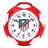 Atlético de Madrid Seva 4902004, Reloj despertador, Multicolor (Rojo/Blanco), 8 cm