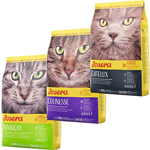 Josera Die Gourmetvariation für die Katze: je 2 kg SensiCat, Culinesse & Catelux