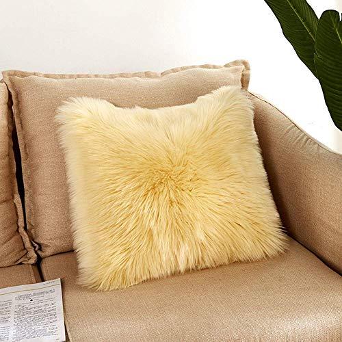 Gaddrt - Funda de cojín de peluche suave y esponjosa para el hogar o la cama, decoración del sofá (F)