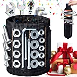 Magnetic Wristband with 20pcs Super Strong Magnets for Holding Screws, Nails, Drill Bits, Father's Day Gift Cool Tool Gifts for Men/Women, Handyman, Father/Dad, Husband, Boyfriend, Carpenter, Guys