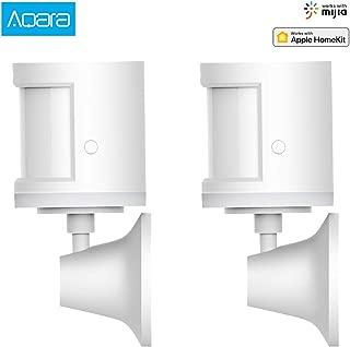 Xiaomi Aqara Smart Home secuity Human Body Sensor ZigBee Movement Motion Sensor Security Wireless Connection Light Intensity Gateway 2 Work with Mijia and Apple HomeKit APP (2PCS Motion Sensor)