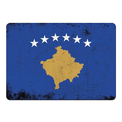 Muismat vlag Retro Kosovo gekleurd