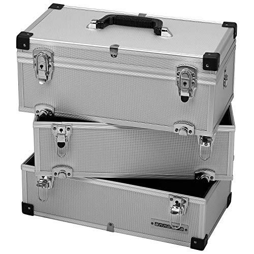 Werkzeugkoffer 41 L silber Takle Box Alukiste 3 Etagen Koffer Alukoffer