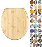 Sanilo Abattant WC Frein de Chute Soft Close - Grande sélection de abattants WC en Bois - Finition de Haute qualité (Bambou)