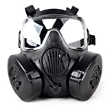Generische Taktische Airsoft Paintball-Volles Gesichts-Gas-Schutzbrille Maske M50 (Schwarz)