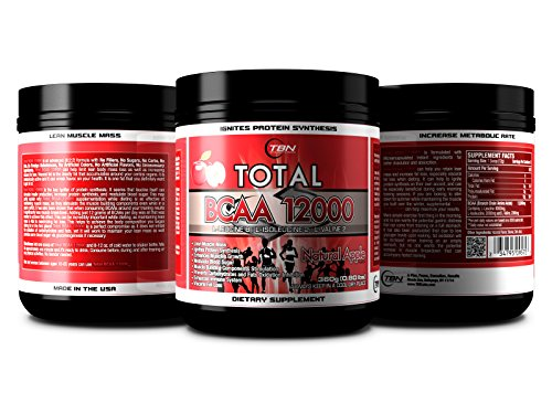 TBN Labs 8:2:2 Ratio Enriched Total BCAA 12000 is one of the most Bioactive BCAA Voted By NPC Bodybuilders. L-Leucine 8: L-Isoleucine 2: L-Valine 2 Best Use For:EACH BOTTLE OF Total BCAA 12000® PERFORMANCE FUEL CONTAINS THREE HUNDRED SIXTY (360) GRAMS OF HIGH QUALITY BRANCH CHAIN AMINO ACIDS TO FEED YOUR MUSCLES. .. (Tropical Watermelon)