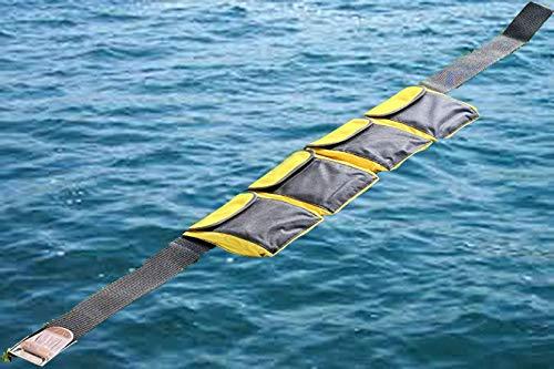 AKM-Scuba Diving Pocket Weight Belt Yellow (4 Pocket)