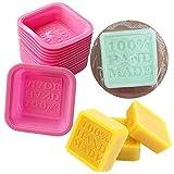 September 10PCS Hand Made Seife Form Silikonform für Kuchen Candy Schokolade Rückseite