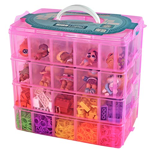 Bins & Things Toy Organizer with 40 Adjustable Compartments Compatible with LOL Surprise Dolls, LPS, Shopkins, Calico Critters and Lego