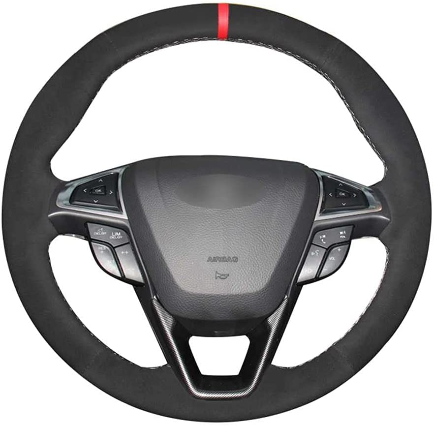BEKwe Hand-Stitched Car Steering Luxury Wheel Mondeo Shipping included Cover for Fit Ford