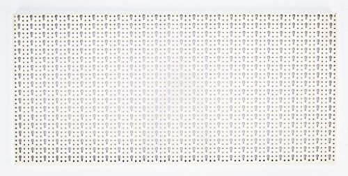 Sipa 5/577Panel perforado de chapa barnizada, 1000x 500 mm, color marfil.