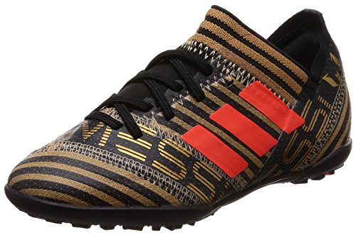 Adidas Nemeziz Messi Tango 17.3 TF J, Botas de fútbol Unisex niños, Negro (Negbas/Rojsol/Ormetr 000), 28 EU
