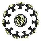 Dony Tirador de mango de flores rojas de palma Plumeria, asas de gabinete y tiradores de cajón para gabinetes de cocina, cajones, gabinetes y decoración del hogar (12 paquetes)