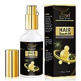 MISICH Hair Growth Serum, Natural Hair Regrowth Oil with Caffeine and Biotin, Anti Hair Loss and Hair Growth Essential Oil for Men Women Stronger, Thicker, Longer Hair (1.7oz)