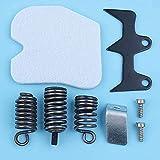 HaoYueDa Bumper Spike AV Isolator Kit de Receptor de Montaje de vibración Compatible con Husqvarna 235236240 E 235E Motosierra 545033901 Pieza de Repuesto