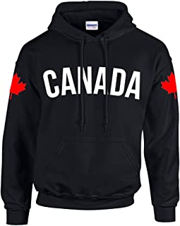 Technik Apparel Canada Dual Flags by 6ixset - Adult Pullover Hoodie