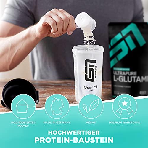 ESN Ultrapure L-Glutamine Powder, Pro Series, 1er Pack (1 x 500g Beutel) - 2