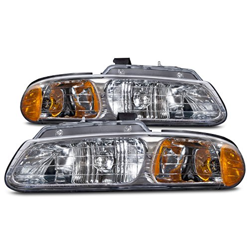 HEADLIGHTSDEPOT Dual Beam Headlights Compatible with Chrysler Dodge Plymouth Caravan Town & Country Voyager Includes Left Driver and Right Passenger Side Headlamps