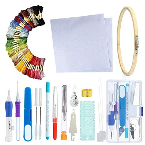 Lowest Prices! Erholi Home DIY Crafts Set Cross-stitch Embroidery Needle Tool Set Sewing Tools