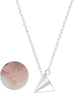 airplane necklace rose gold