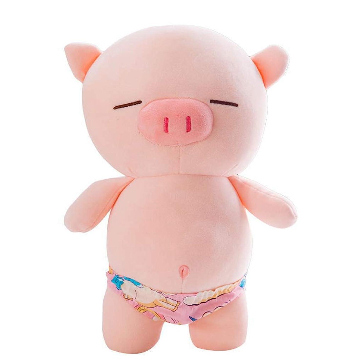 予感永遠に極貧豚 ぬいぐるみ ぶた かわいい 超萌え 癒し ふわふわ おもちゃ 抱き枕 寝かしつけ用 置物 飾り インテリア お誕生日 お祝い 贈り物 プレゼント こども 彼氏 彼女 柔らかい 抱き心地良い ピンク 50cm