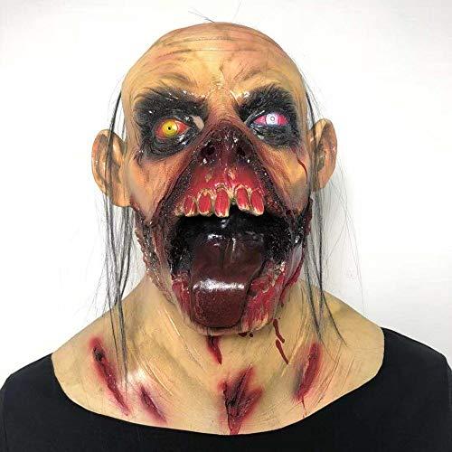 AJO Divertido de Halloween Muerta del Zombi Alineada Cara Ma-SK por Partido - la Novedad extraos Scary Ma-SKS for Adultos, Cosplay Decoraciones Complementos Disfraz