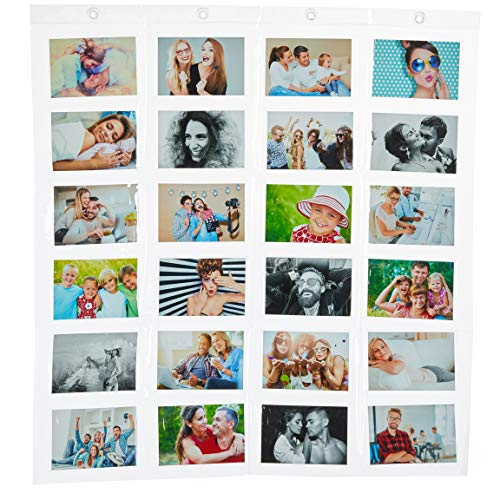 Bada Bing Fotohalter Mit 24 Taschen in Transparent Ca. 78 x 83 cm Für Ihre Fotos 10 x 15 cm Karten Notizen In...