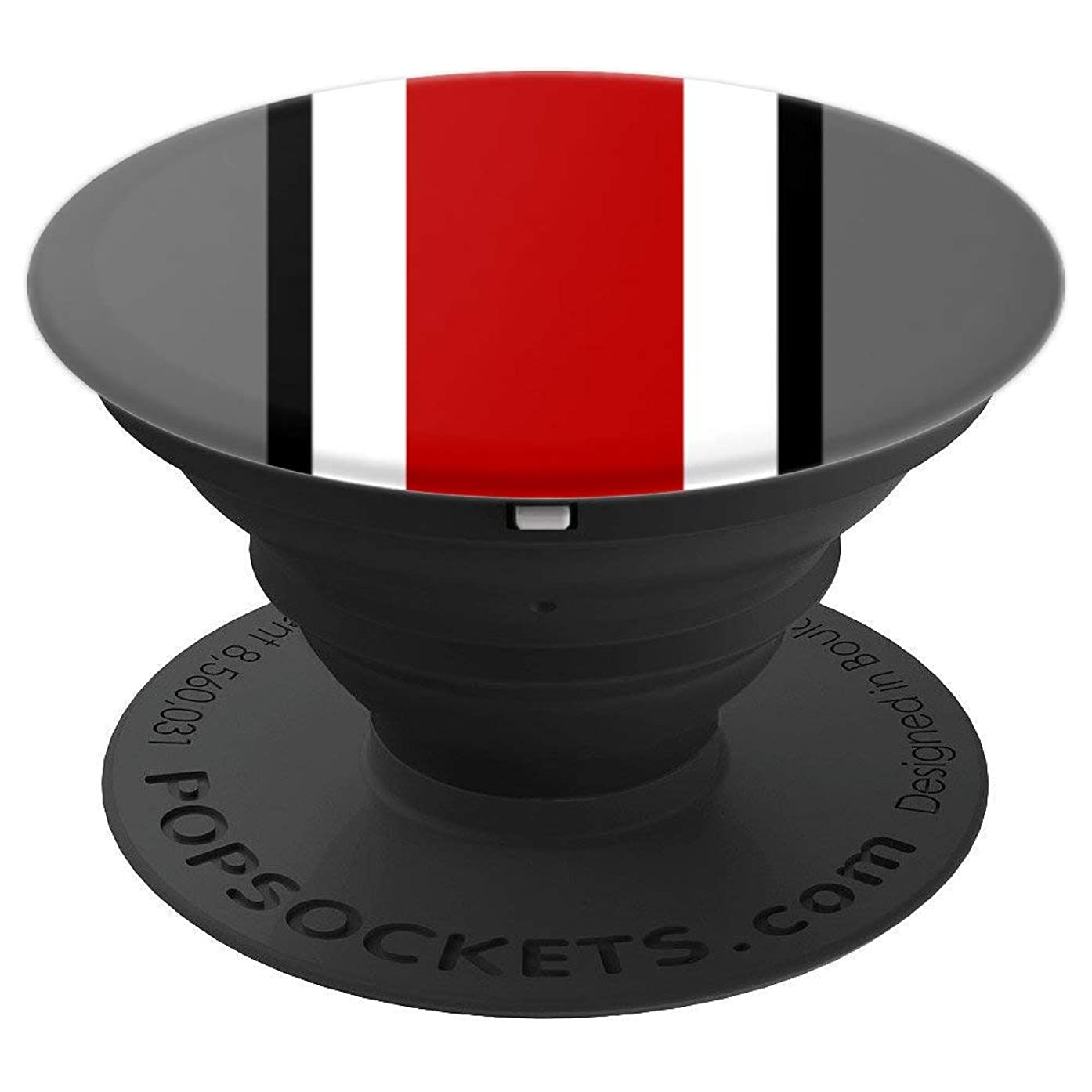 Ohio, Home State Pride, Red and Gray Striped - PopSockets Grip and Stand for Phones and Tablets