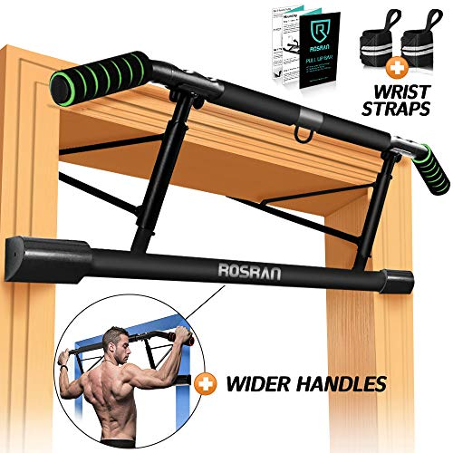 ROSRAN Pull Up Bar for Doorway Doorway Chin Up Workout Bar - Portable Pull-up Bar Upper Body Indoor Gym Pullup Bar - Pull Up Bar Doorframe - Angled Grip