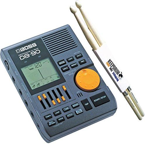 Boss DB-90 Dr Beat digitales Metronom + keepdrum Drumsticks 1 Paar