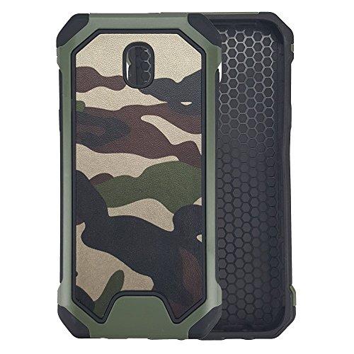 bagmaxx Samsung Galaxy J3 J330 (2017) Outdoor Case TPU Hybrid Camouflage Schutz Hülle Cover Bag Trekking Anti-Shock Military Army Grün