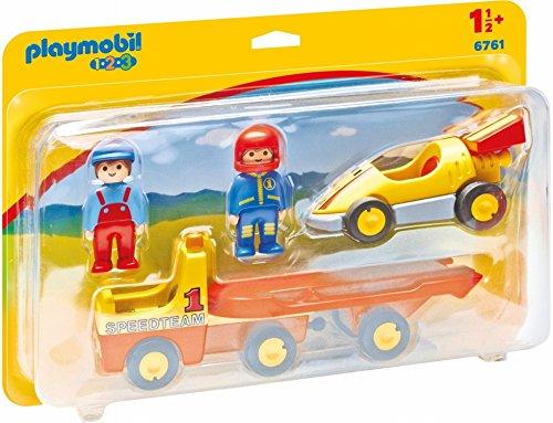 Playmobil 1.2.3 Coche de Carreras con Camión