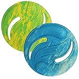 com-four 2X Frisbie pour Enfants et Adultes - Disque en Mousse - Disque frisbie 22,5 cm - Disque Volant aux Couleurs Vives [la sélection varie] (02 pièces - Frisbie - 22,5cm)