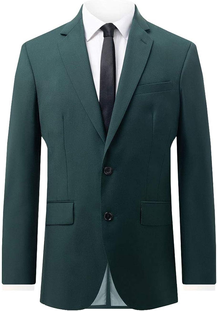 Dobell Mens Bottle Green Suit Jacket Slim Fit
