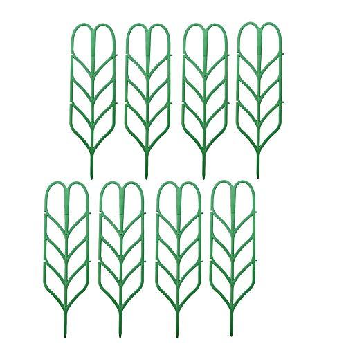 Domilay 8Pcs DIY Leaf Shape Garden Trellis Plants Lattice Pots Supports for Climbing Plants Potted Vines Ivy Cucumbers