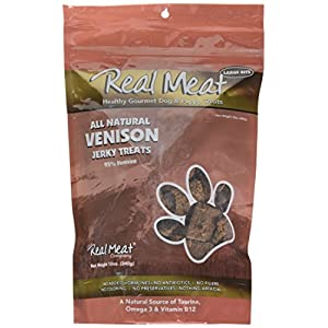 Real Meat Venison Jerky Dog Treats (12 oz)