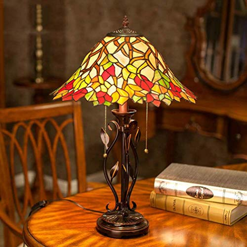 Tafellamp, Tiffany-stijl, romantisch, raamfolie, tafelverlichting, woonkamer, retro, slaapkamer, decoratie, nachtlampje, 40 W