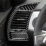 Para BMW Serie Z Z4 E85 E86 2003-2008 Laterales Ventilación Aire acondicionado Ventilación Desempañamiento Panel de ventilación Envolvente Interior modificados Fibra de Carbono Trim (Ventilación)