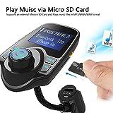 BOKA® T10 Wireless Car Bluetooth FM Transmitter Automotive Handsfree Calling Car MP3 Adapter