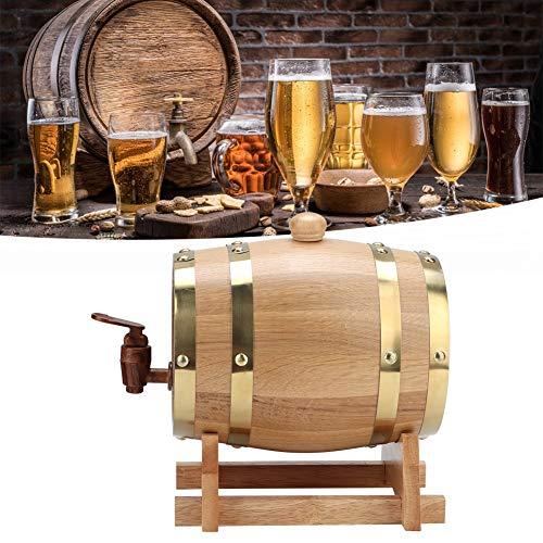 Labuduo Barril de Vino, Barril de Roble práctico Vintage, barriles de Madera de 1,5 l para Vino de Brandy