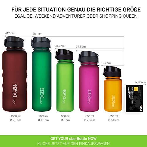 """720°DGREE Trinkflasche """"uberBottle"""" – 350 ml, 0,35 l, Grün, Gruen   Neuartige Tritan Wasser-Flasche   Water Bottle BPA Frei   Ideale Sportflasche für Kinder, Fitness, Fahrrad, Sport, Fussball - 4"""