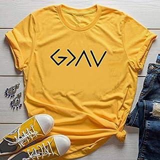 PAND Women T-Shirt Short Sleeve Faith T Shirt Female Light Grey Ladies Plus Size Tops