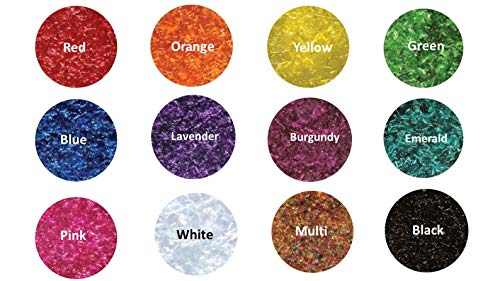 12-1/4 oz Bottles Edible Glitter - Red, Orange, Yellow, Green, Blue, Lavender, Burgundy, Emerald, Pink, White, Multi, and Black