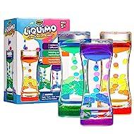 YoYa Toys Liquimo - Liquid Motion Bubbler for Kids and Adults (3-Pack) - Hourglass Liquid Bubbler - Timer for Sensory Play, Fidget Toy - Stress Management - Cool Desk Décor