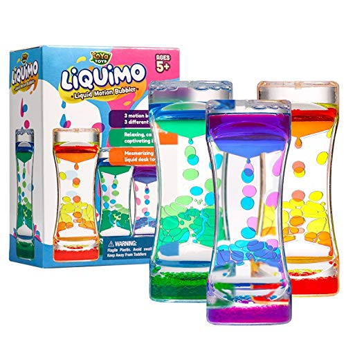 YoYa Toys Liquimo - Liquid Motion Bubbler for Kids and Adults (3-Pack) - Hourglass Liquid Bubbler -...
