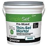 Custom STTSW1 1-Gallon SimpleSet Premium Thin-Set Mortar, White