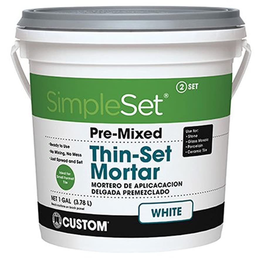 Custom STTSW1 1-Gallon SimpleSet Premium Thin-Set Mortar, White