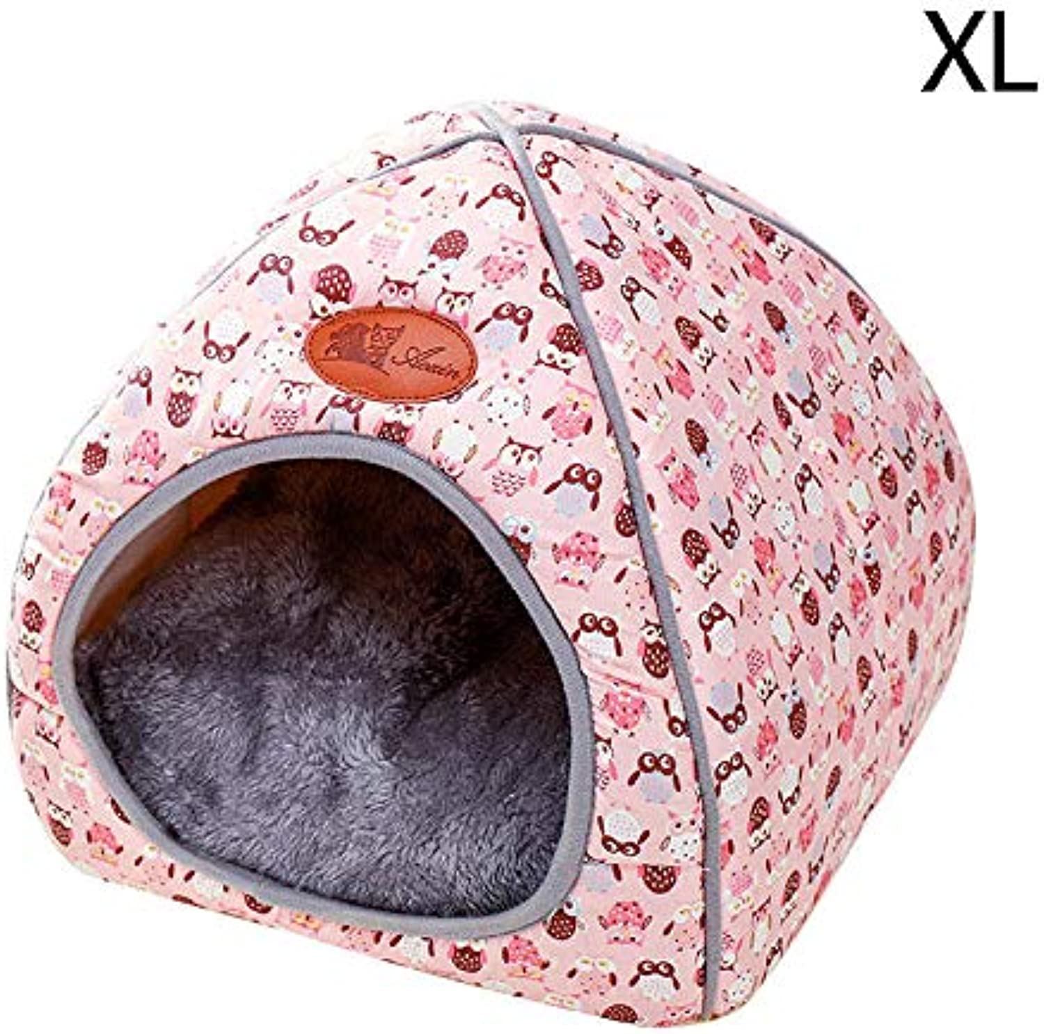 Cat Tent Dog Bed Pet House Foldable Soft Cave Cute Dog Beds Kennel Nest Plush