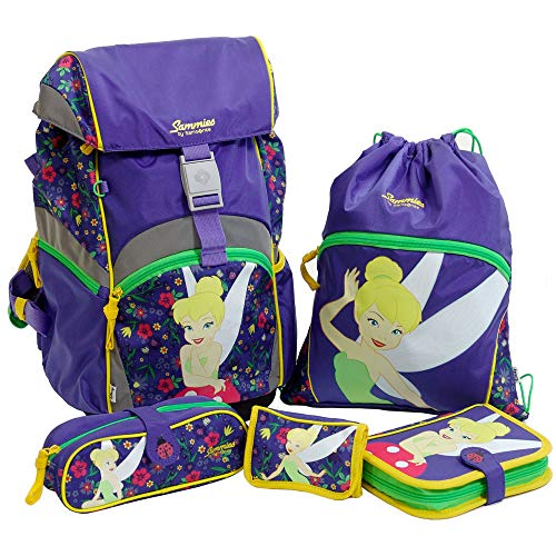 Sammies by Samsonite - Schulranzen Set 5 tlg. - Tinker Bell